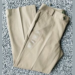 NWT EDDIE BAUER Taupe pants trousers stretch Slack